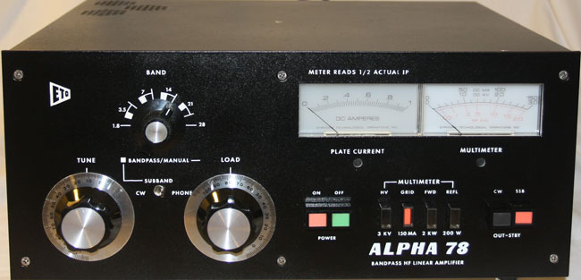Alpha 78cpx Bandpass Hf Linear Ampllifier Covers 10 160m