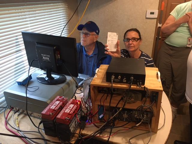 Dean Covey KV4RL working on solar power!