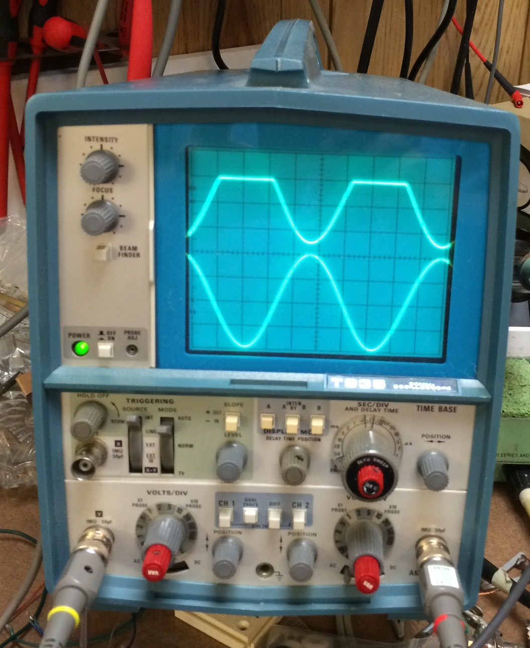 Vintage Tektronix Oscilloscopes : Tektronix t oscilloscope