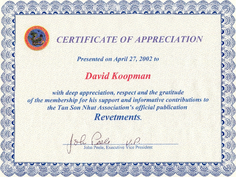 Veteran Certificate of Appreciation Wording